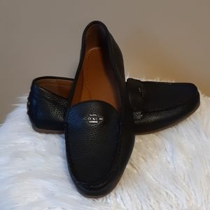 COACH LEATHER LOAFERS SZ: 9B